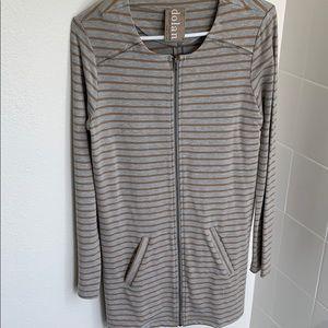 Anthropologie long sleeve zip up tunic